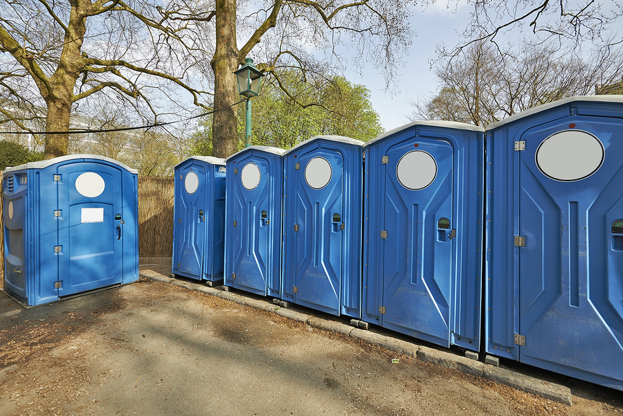 portable restrooms for residential construction site